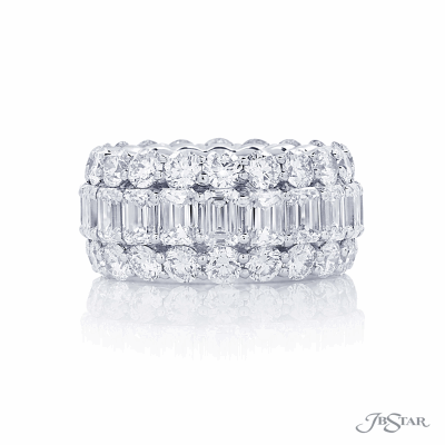 JB Star Diamond Band with Baguettes and Brilliant Cut Stones 10.92CTS