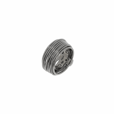Thin DNA Spring Ring - Ruthenium