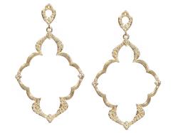 18k Yellow Gold Earring - 05868