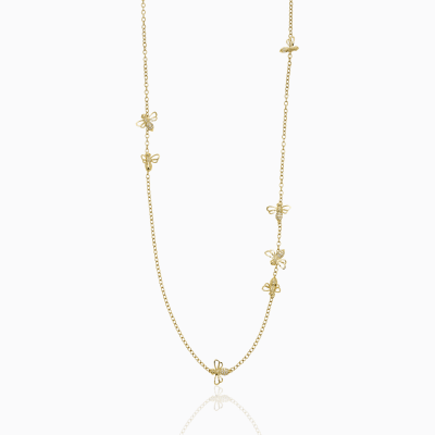 18K Busy Bee Necklace