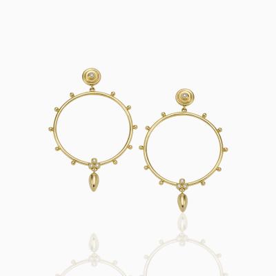 18K Circle Anfora Earrings