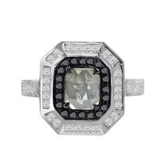 18k Icy Diamond and Black and White Diamond Ring