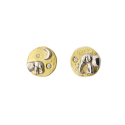 Mother and Baby Elephant Studs