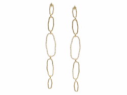 18k Yellow Gold Earring - 14757