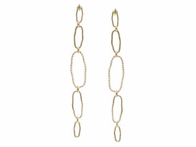 18k Yellow Gold Earring - 14757