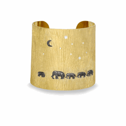 14k Tsavo Nights Mid Cuff