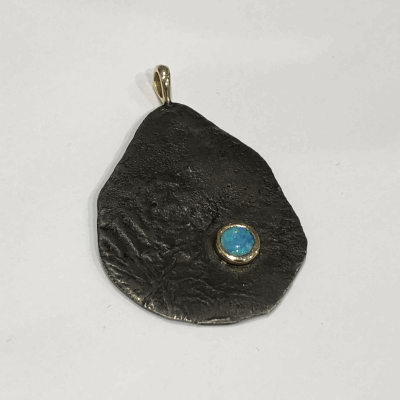 Opal Molten Pendant