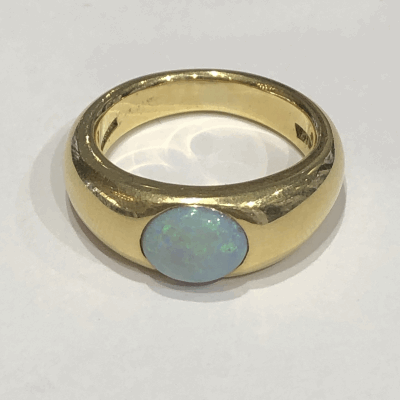 Opal Milky Way Gypsy Ring