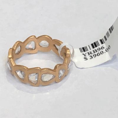Rose cut band in 18k rose gold